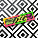 Drop It Like Its Hot Limited Edition Neon Framed Print