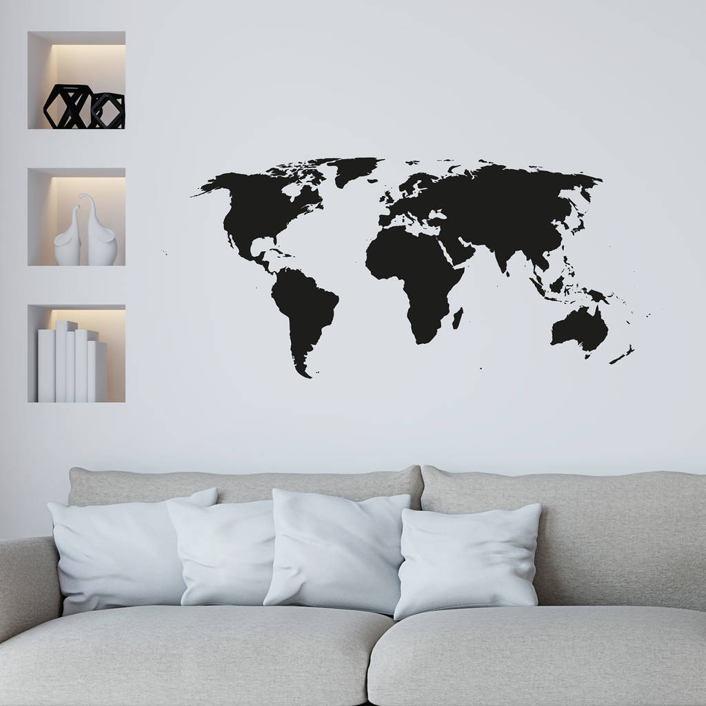 Full Wall World Map.World Map Wall Sticker By Leonora Hammond Notonthehighstreet Com