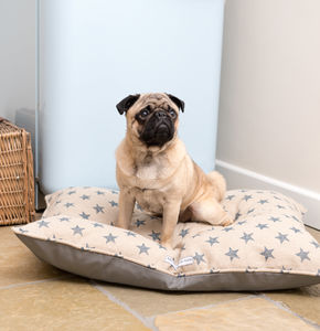 Navy Star Linen Dog Beds - beds & sleeping
