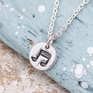 Musical Note Silver Necklace - children's jewellery