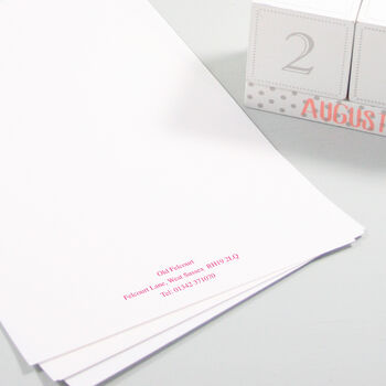 Personalised Classic Writing Paper