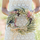 Country Garden Wheat Wreath