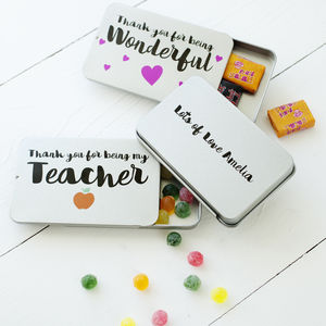 Personalised Thank You Sweets - gifts for teachers