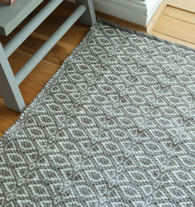 Recycled Indoor/Outdoor Grey Mat - towels & bath mats