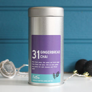 Christmas Tea Gift: Gingerbread Chai Tea Caddy Set - gifts for grandparents
