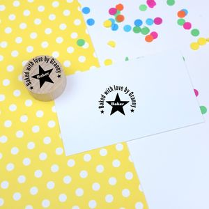 Cooks Personalised Rubber Stamp