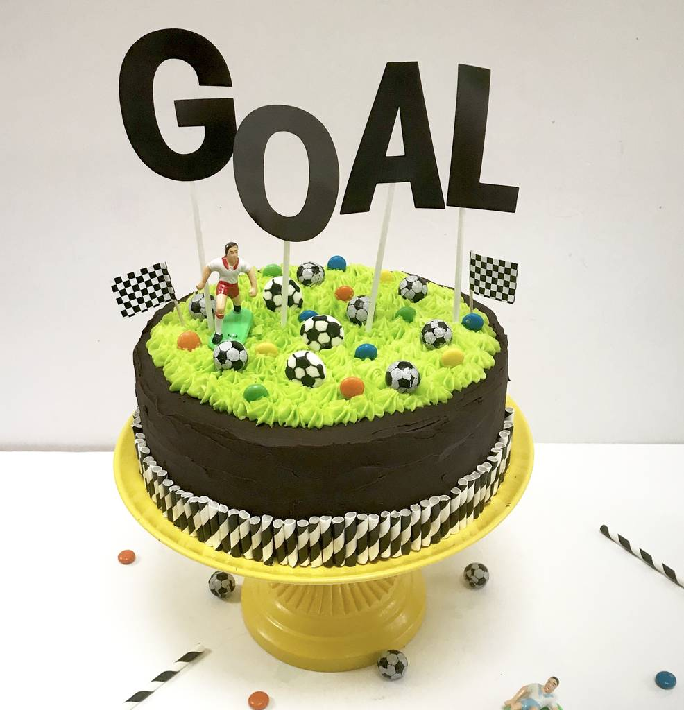 Football Birthday Cake Kit By Craft & Crumb