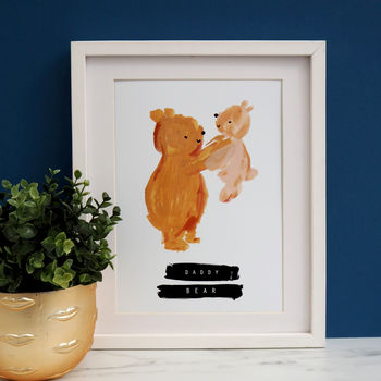 Father's Day Bear Cub Print