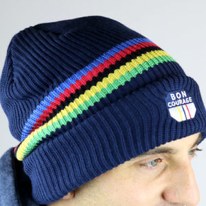 Cycling World Champs Stripe Beanie - hats, scarves & gloves