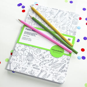 Kids Colour In Notebook Set