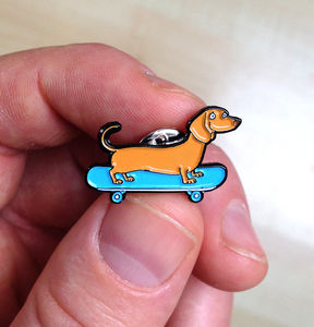 Sausage Roll Dachshund Soft Enamel Pin Badge - men's jewellery