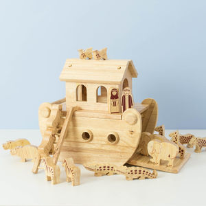 Noahs Ark Keepsake Toy - religious christening gifts