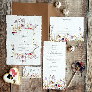 Fleur Handmade Paper Wedding Invitation