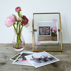 Brass And Glass Stand Up Photo Frame