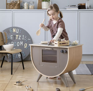 Warm Grey Luxury Play Kitchen - gifts for children
