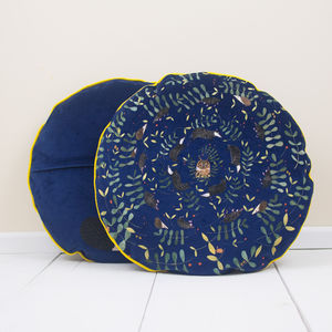 Nocturnal Woodland Animals Cushion