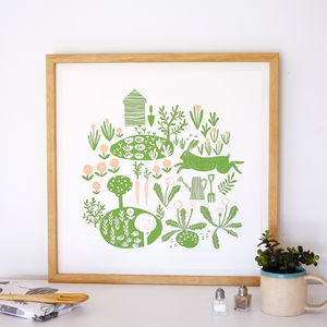 Allotment Illustration Limited Edition Giclee Print