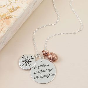 'A Precious Daughter' Meaningful Words Necklace