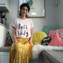 Boss Lady T Shirt Organic Cotton