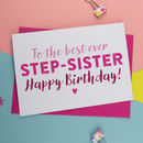 Best Step Sister Birthday Card