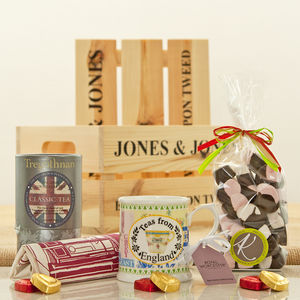 Teas From England Tea Gift Hamper Crate - hampers