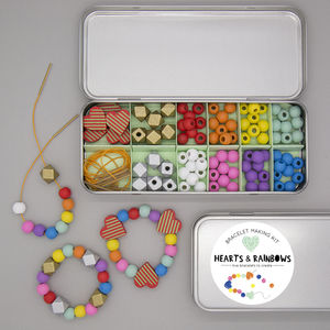 Hearts And Rainbows Beading Kit - traditional toys & games