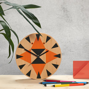Tiger Wooden Wall Clock