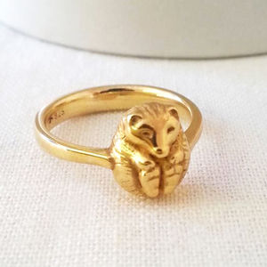 Personalised Hibernating Hedgehog Ring