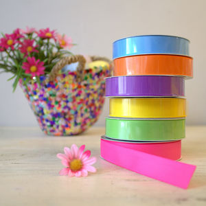 Set Of Six Colourful Grosgrain Ribbons - ribbon & bows