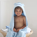 Large Hooded Bath Towel Blue