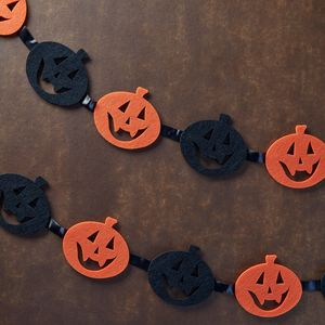 Halloween Pumpkin Bunting Decoration - party decorations