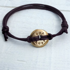 Personalised Eternal Hoop Bracelet - men's jewellery