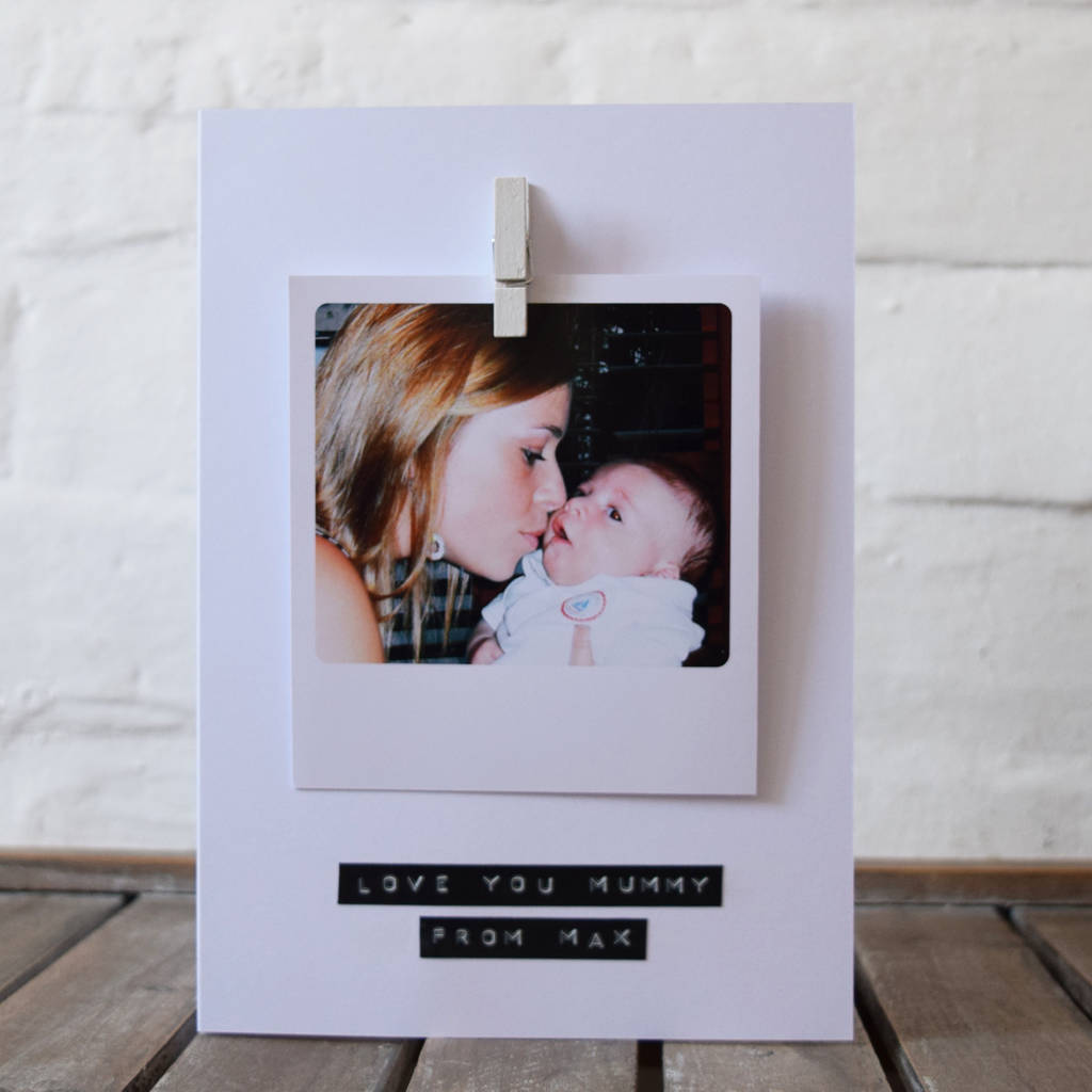 Personalised Photo Stamped Message Card By Jg Artwork