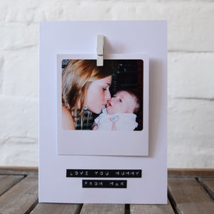 Personalised Photo Stamped Message Card