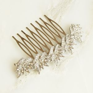 Delicate Floral Crystal Hair Comb - head pieces