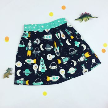 Girls Space Skirt