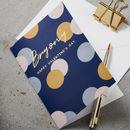 Personalised Blue Polka Dot Card