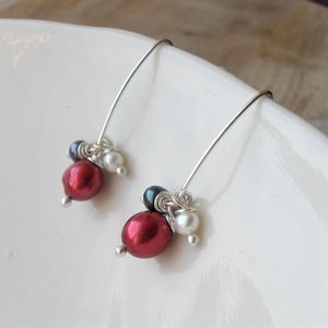 Juniper Freshwater Pearl Long Earrings - earrings