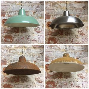 Metal Enamel Kitchen Pendant Lampshade
