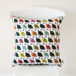 Colourful Guinea Fowl Cushion Cover - cushions