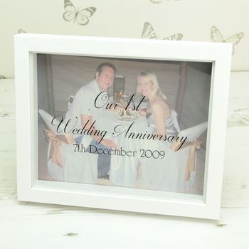 Personalised Anniversary Photo Box Frame