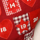 Personalised Gingham Advent Calendar Christmas Stocking