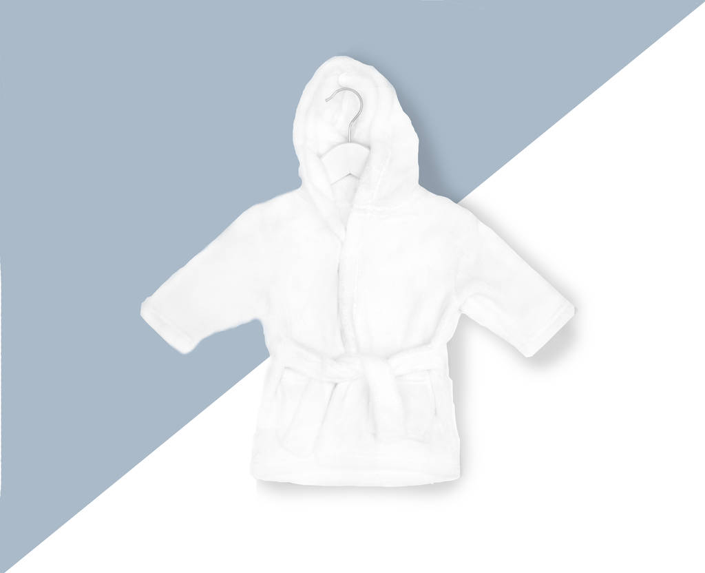 white super soft baby dressing gown by elizabeth eve ...