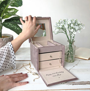 Personalised Hidden Message Jewellery Box