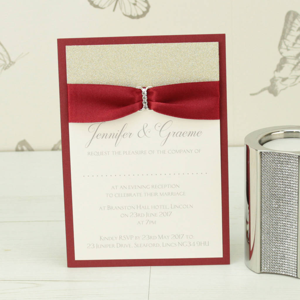 Enchanting Sparkle Wedding Invitations Ensign - Invitations and ...