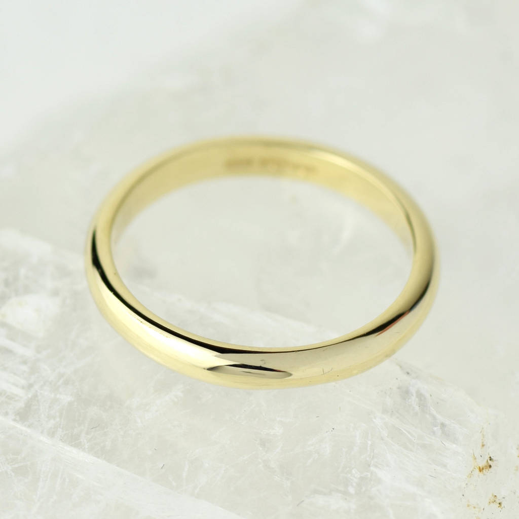 Simple Wedding Ring.Solid 9ct Gold Simple Wedding Band