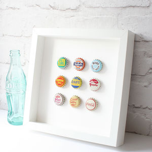 Vintage Soda Pop Bottle Top Collection - mixed media & collage