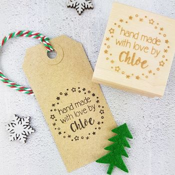 Personalised Christmas Hand Made By Rubber Stamp