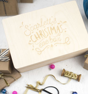 Personalised Childrens Christmas Eve Box