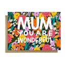 Wonderful Mum Mother's Day Card